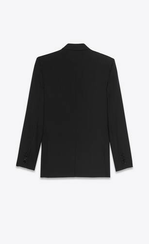 long single-breasted jacket in gabardine saint laurent