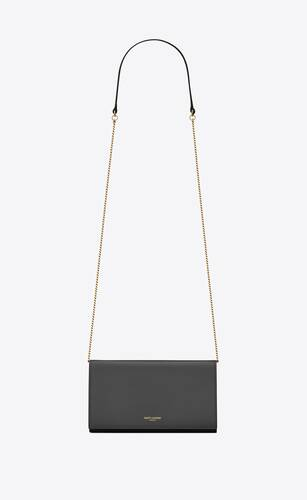 mini sac saint laurent paris en cuir brillant