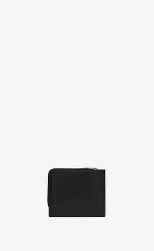tiny monogram east/west zip-around wallet in smooth leather