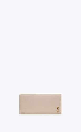 tiny monogram kontinentales portemonnaie aus genarbtem leder