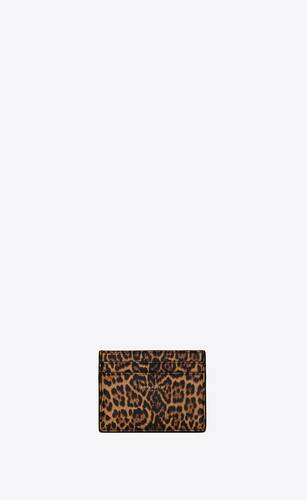 kartenetui aus leder mit leoparden-print