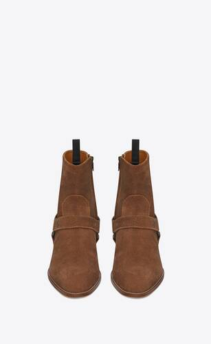 wyatt harness boots in suede