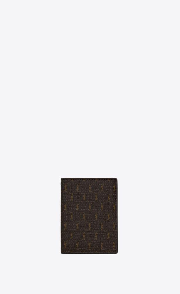 le monogramme credit card wallet in saint laurent monogram canvas