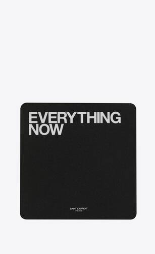 """everything now"" mouse pad"