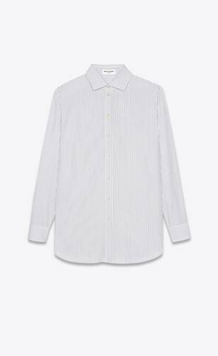 oversized shirt in double pinstripe cotton