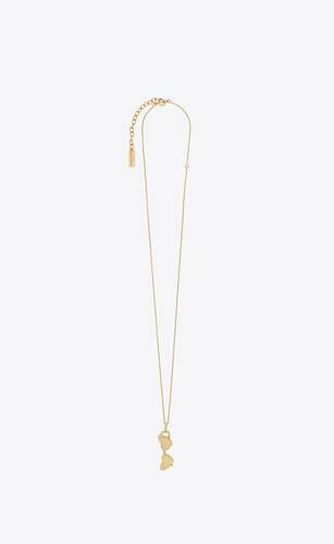loulou sunglasses pendant necklace in 18k gold