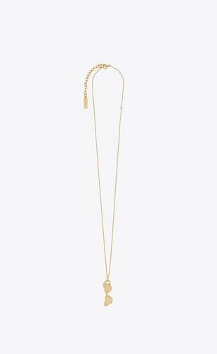 loulou collier à pendentif lunettes de soleil en or 18k