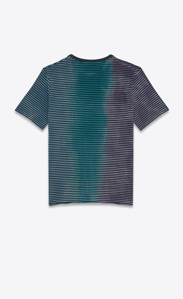 tie-dye striped monogram t-shirt in jersey