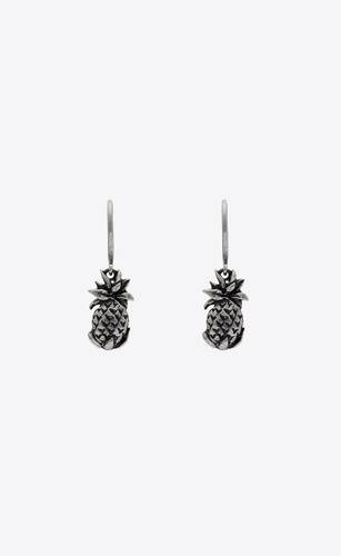 pineapple drop earrings in metal