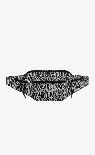 riñonera nuxx de nailon con estampado de leopardo