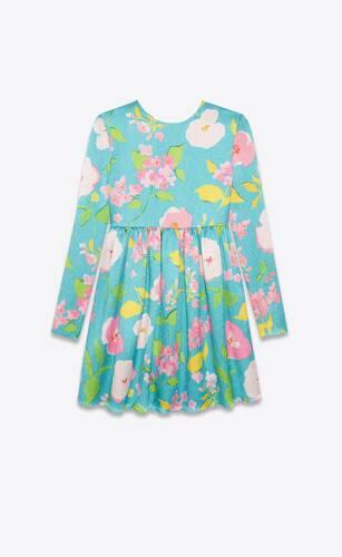 robe babydoll en viscose froissée à fleurs