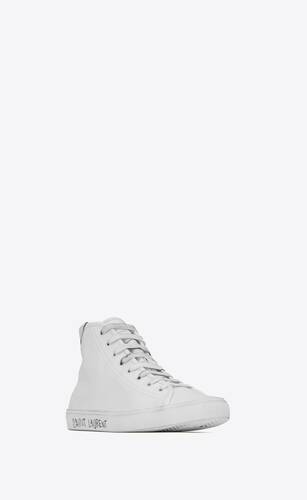 malibu mid-top sneakers in smooth leather