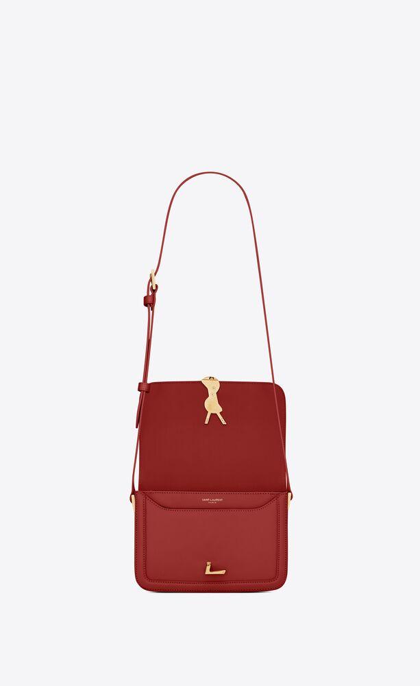 solferino small satchel in box saint laurent leather