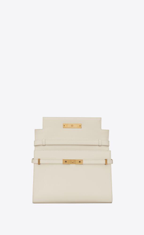 manhattan shoulder bag in box saint laurent leather