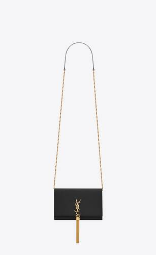 kate tassel chain wallet in smooth leather