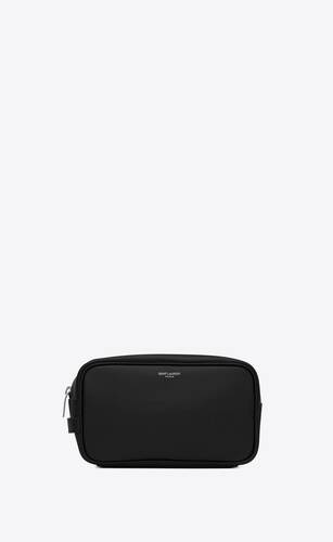 saint laurent paris small grooming case in grain de poudre embossed leather