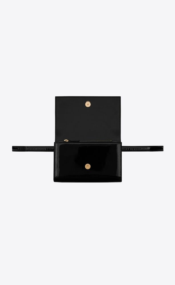 kate belt bag in patent leather