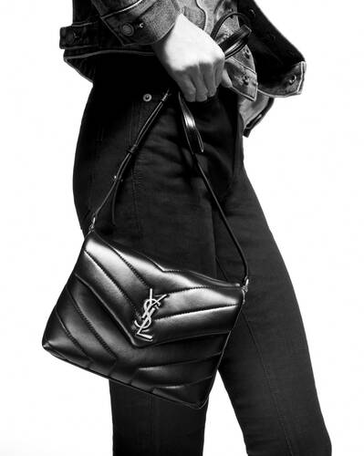 "loulou toy bag in matelassé ""y"" leather"