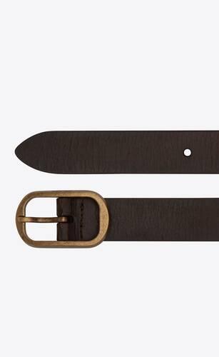 can ceinture à boucle en cuir craquelé
