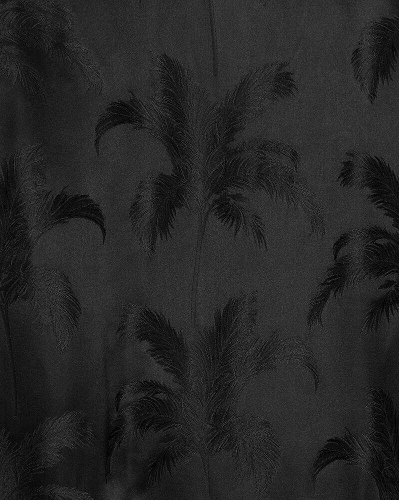 teddy jacket in palm satin jacquard