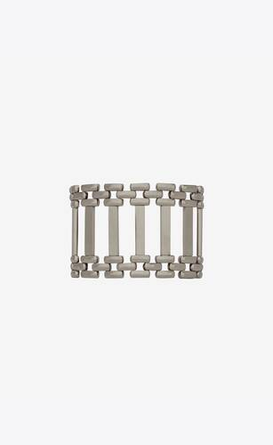 panther-chain crossbar bracelet in silver