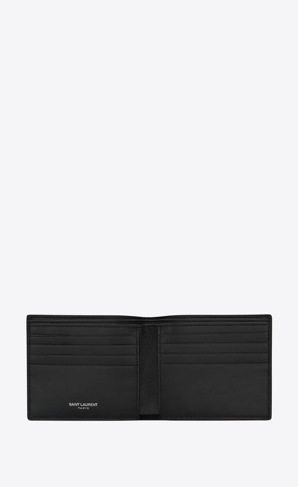 monogram e/w wallet in crocodile-embossed nubuck