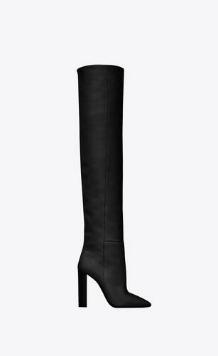 76 over-the-knee boots in smooth leather