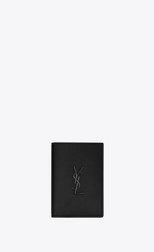 monogram passport case in grain de poudre embossed leather