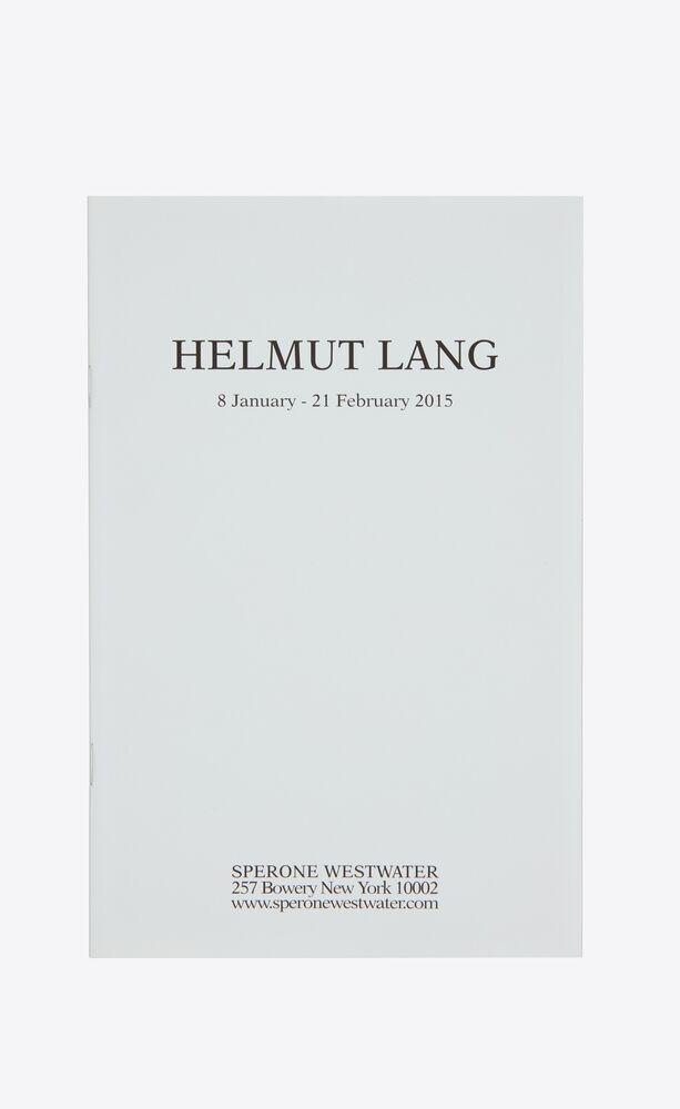helmut lang - sperone westwater