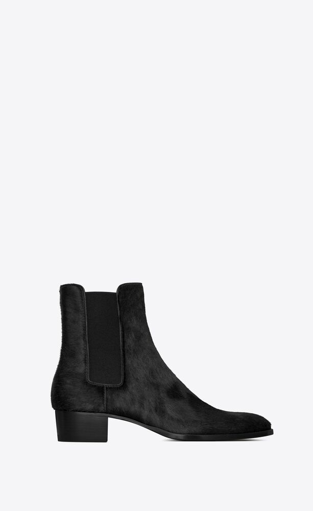 wyatt chelsea boots in pony-effect leather