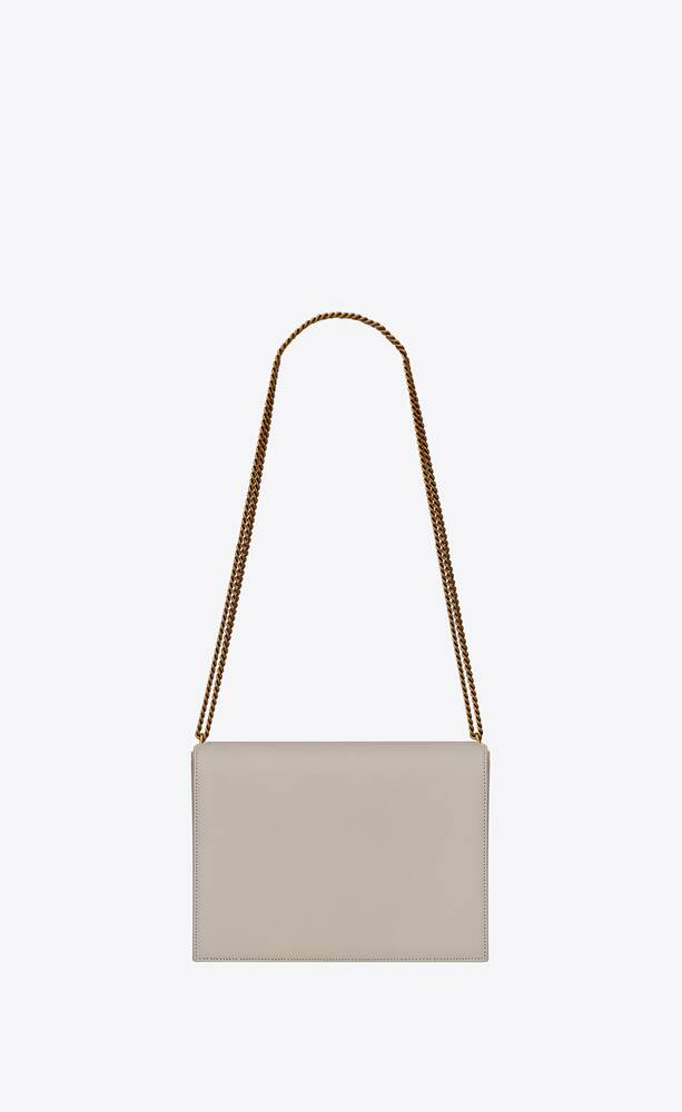 cassandra medium bag with monogram slider in smooth leather