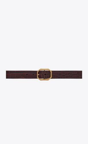 frame ceinture à boucle en cuir embossé imprimé crocodile