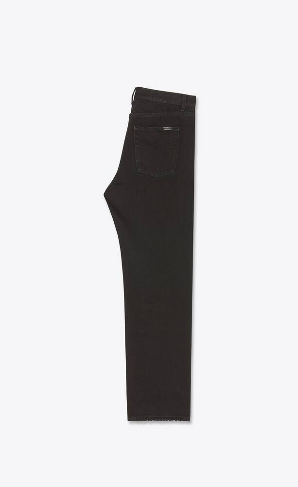 jean droit dyed black