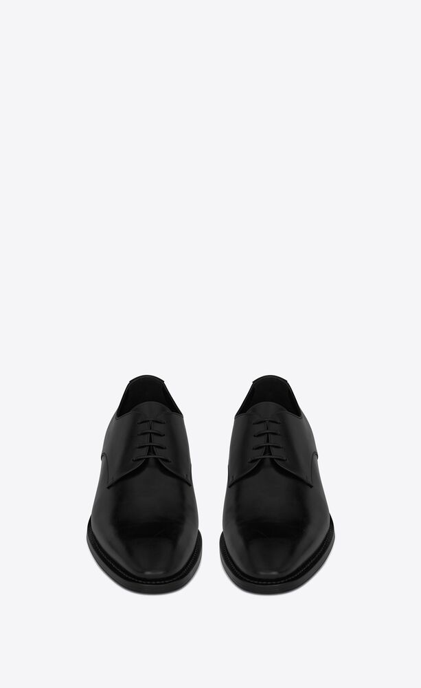 adrien derbies in smooth leather