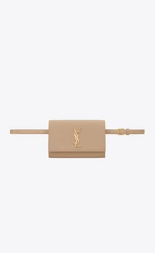 kate belt bag in grain de poudre-embossed leather
