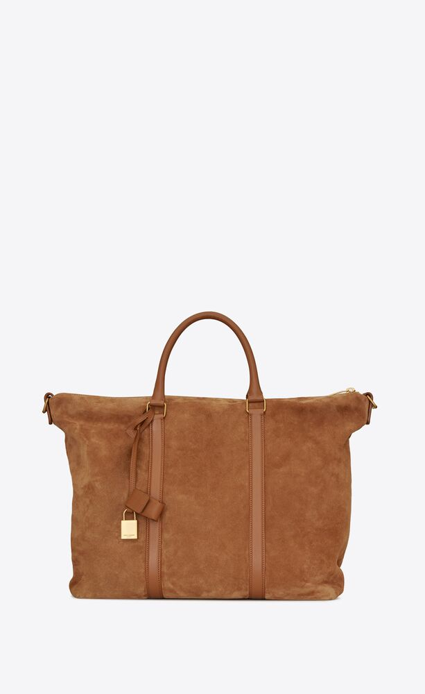 duffle supple sac de jour in suede and leather
