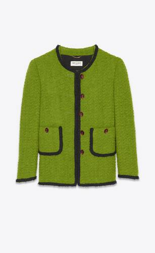 short jacket in tweed