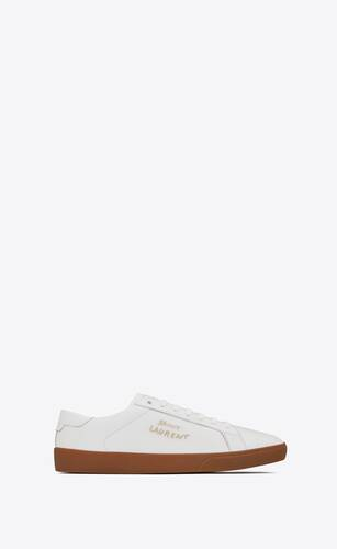 bestickte court classic sl/06 sneaker aus genarbtem leder