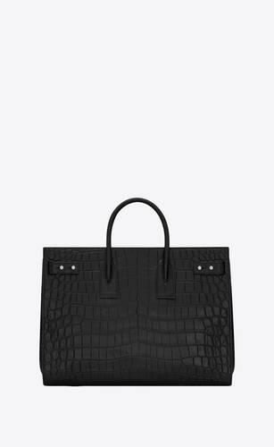 thin large sac de jour en cuir embossé façon crocodile