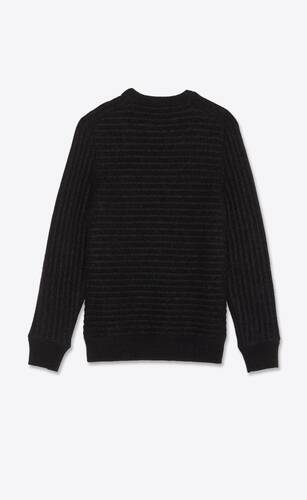 sailor knit sweater in wool and mohair