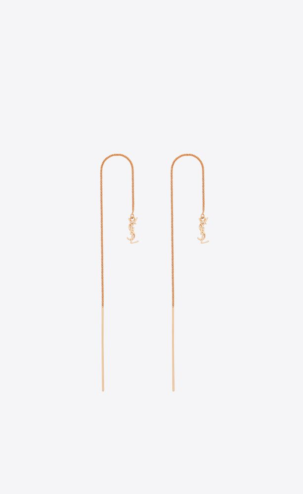 opyum ysl long threader earrings in metal