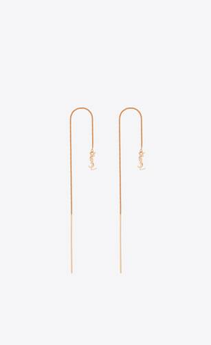 orecchini pendenti opyum lunghi in metallo