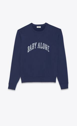 """baby alone"" sweatshirt"