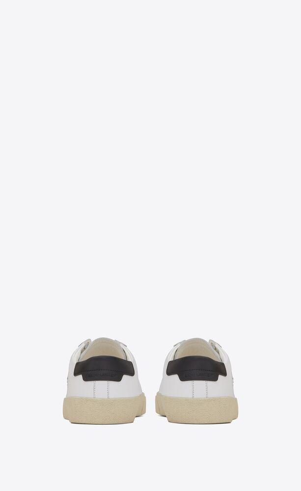 court sl/06 sneaker aus optisch weißem leder und goldener stickerei