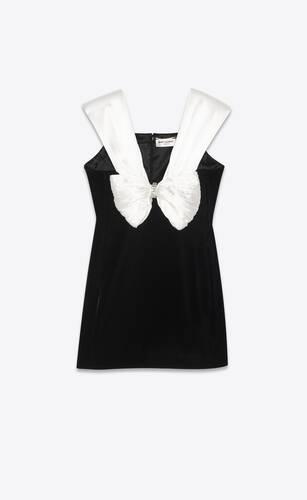 short dress in cupro velvet