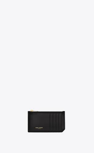 fragments zipped card case in smooth leather