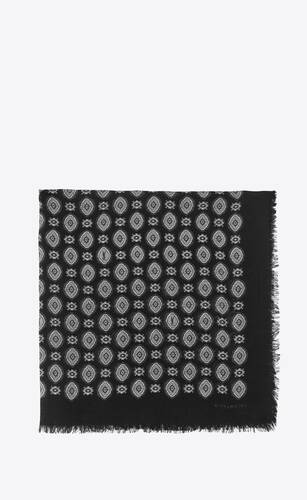 vintage cashmere-print bandana in wool twill