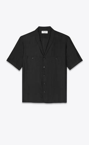 shirt in striated silk voile
