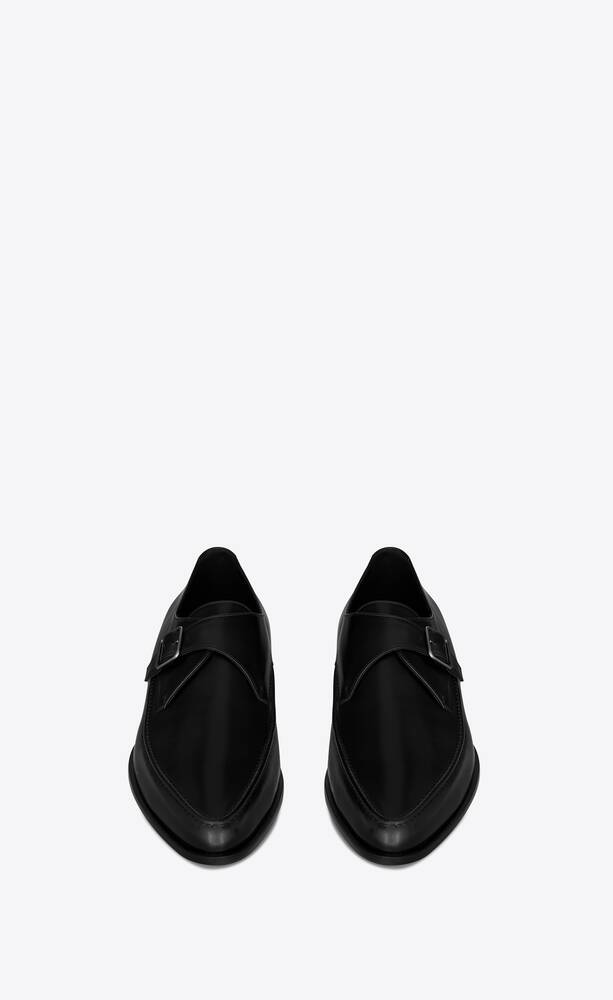 marceau monk strap shoes in smooth leather
