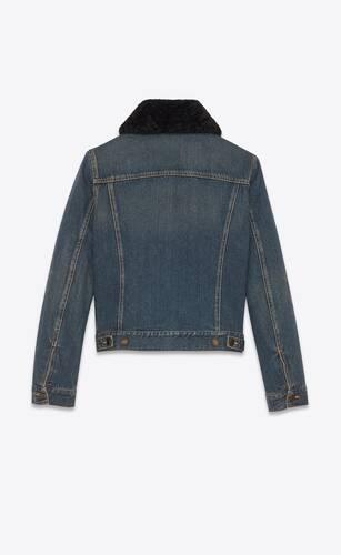 jacket en denim dark dirty vintage blue